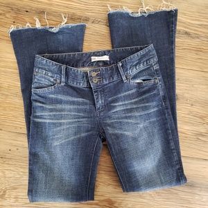 Free People Jeans Flare Raw Hem size 27